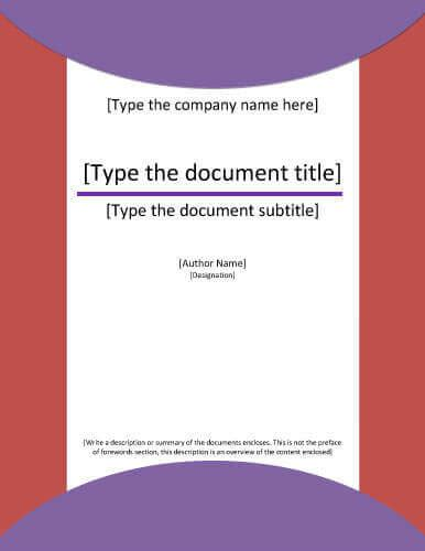 7 report cover page templates for business documents