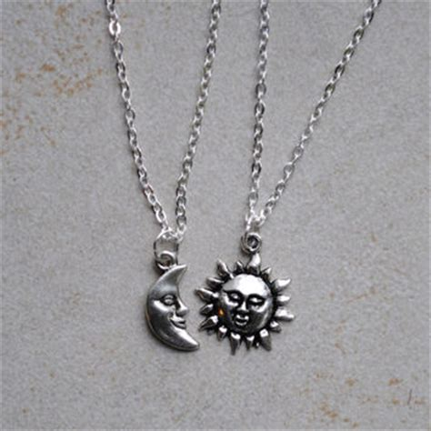 sun and moon friendship necklaces from clayrunway products