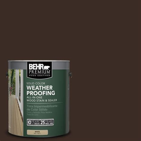 behr premium 1 gal sc 103 coffee solid color weatherproofing all in one wood stain and sealer