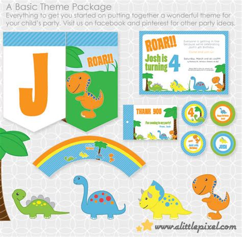 printable dinosaur party decorations party printable dinosaur party theme basic package