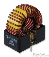 vertical toroidal inductor pe92108knl pulse engineering toroidal inductor vertical klipmount series 67 181 h 3 6 a 0