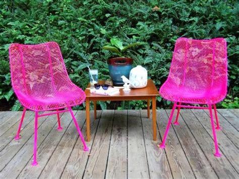 home garden gartenmöbel schicke gartenm 246 bel in pink zwei st 252 hle und ein kleiner