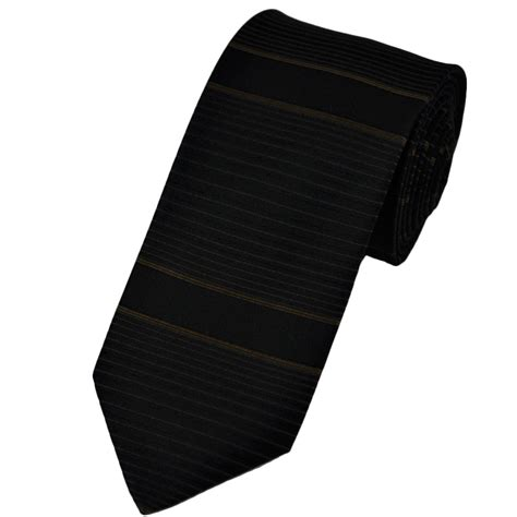 brown bronze black thin horizontal striped silk narrow