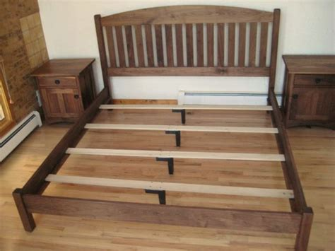 bed support slats solid walnut quot slat arch quot queen bed boulder furniture arts