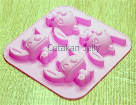 Cetakan Kue Puding 6 Cavity Berkualitas cetakan silikon puding kue stitch 4 cavity cetakan