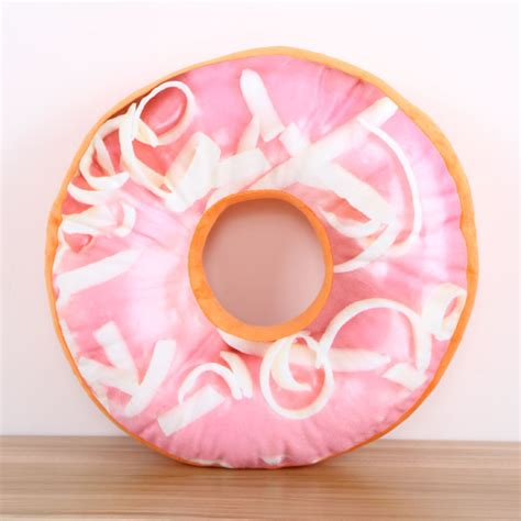 Doughnut Shaped Pillow by Donut Doughnut Cake Snack Shaped Plush Pillow Cushion Home