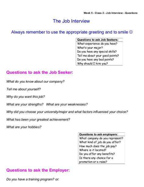 resume questions to ask board questions week questions