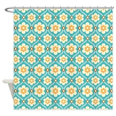 turquoise and gold curtains turquoise gold floral shower curtain by pinkinkart