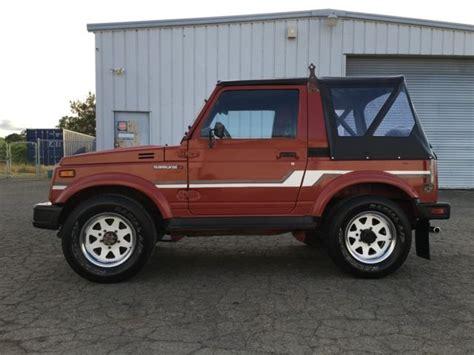 jeep suzuki suzuki samurai 4x4 rust free 2nd owner must see
