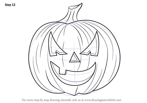 learn how to draw halloween pumpkin halloween step by