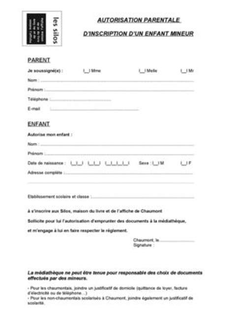 Exemple De Lettre Autorisation Parentale Pour Voyager Modele Autorisation Parentale Scolaire Document
