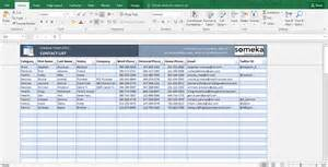 templates in excel contact list template in excel free to easy