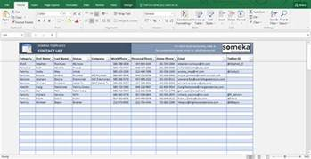 excel list templates contact list template excel free business template
