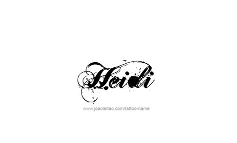 Tattoo Name Heidi | heidi name tattoo designs