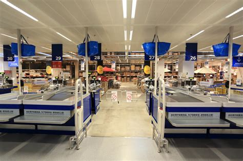 ikea register cash point in supermarket store editorial photography
