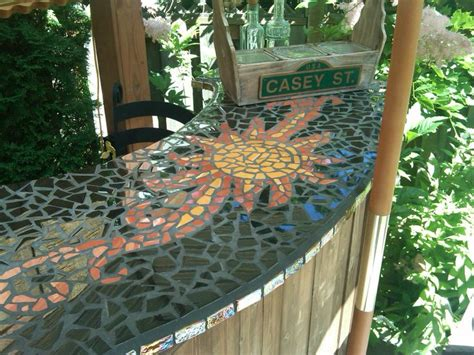 mosaic tile bar top backyard must haves pinterest