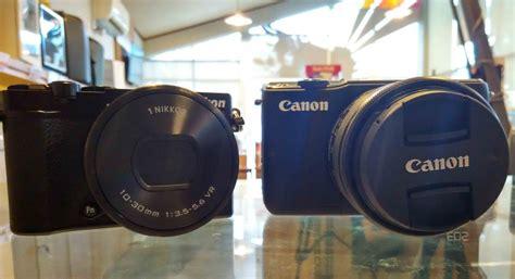 Perbandingan Lensa Canon Dengan Nikon perbandingan kamera vlog antara canon m10 atau nikon 1 j5