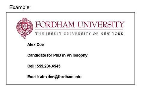 phd student business card template fordham gsas grad business cards available for