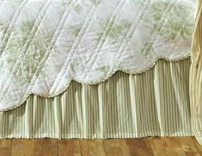 Ruffle Bed Skirt Twin by Green White Ticking Stripe Twin Queen Or King Bed Skirt
