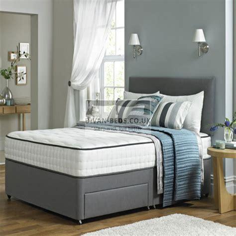 lisa leather divan bed  spring memory foam mattress