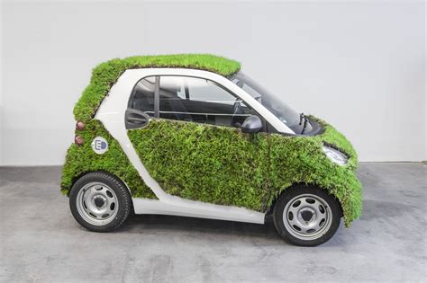 smart car green smart fortwo takes the green car thing a bit literally