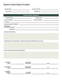 Template Incident Report free incident report templates smartsheet