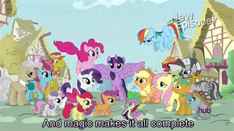 friendship lessons my little pony friendship is magic my little pony theme song with lyrics my little pony