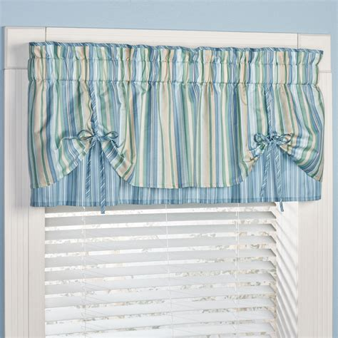 Coastal Window Curtains Clearwater Coastal Striped Window Treatment