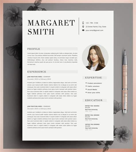 25 best ideas about cv template on pinterest layout cv