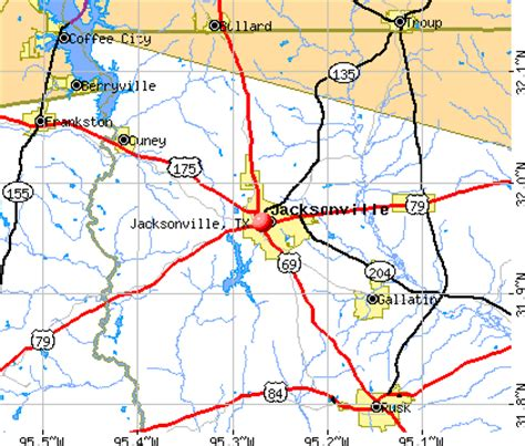 jacksonville texas map jacksonville texas tx 75766 profile population maps real estate averages homes