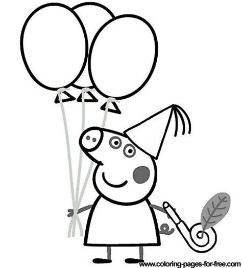 peppa pig birthday party coloring pages peppa pig coloring pages drawing picture 40 bella s