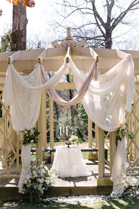 Wedding Ceremony Draping by Dramatic Gazebo Draping For Wedding Ceremony Wedding