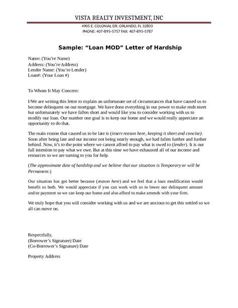 Hardship Letter Requesting Deed In Lieu sle of sale request hardship letter sle