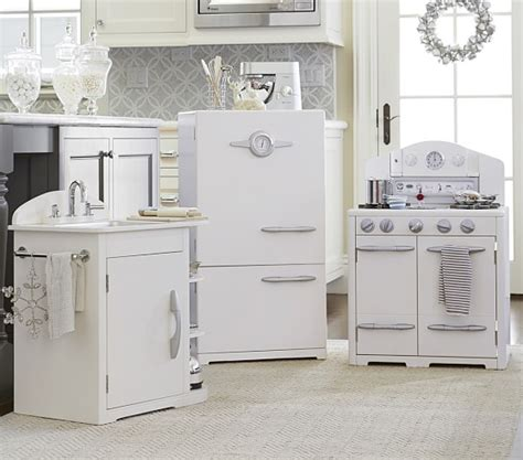 pottery barn kitchen furniture simply white retro kitchen collection pottery barn kids