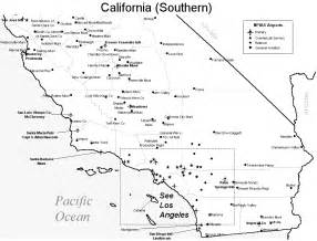 southern california airports map los angeles california