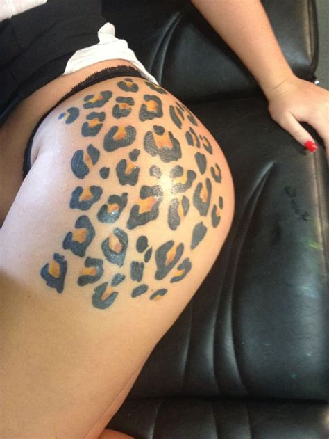 tattoo with printer leopard print tattoo on the buttock tattoos pinterest