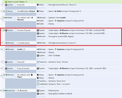 construct 2 event sheet tutorial creating a 2d html5 game with construct 2 game engine