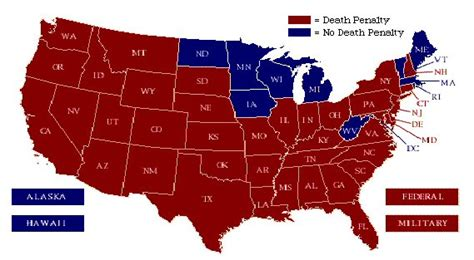 map of us states penalty penalty esl resources general information