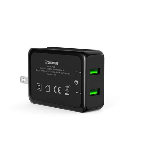 Termurah Tronsmart Wall Charger Wc2f tronsmart 36w charge 2 0 2 ports rapid wall charger