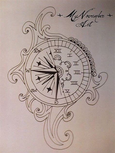 layout time meaning tattoo idea greek numbers clock compass tattoos