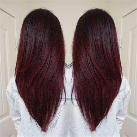 cortes de cabello 2016 en rojo y negro v cortes de pelo para el pelo largo rojo oscuro violeta