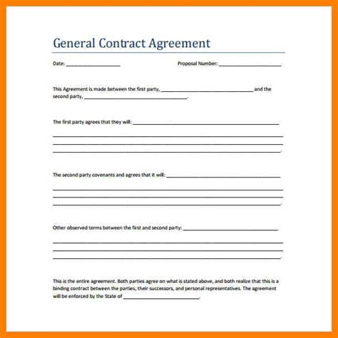 8 simple contractor agreement lease template