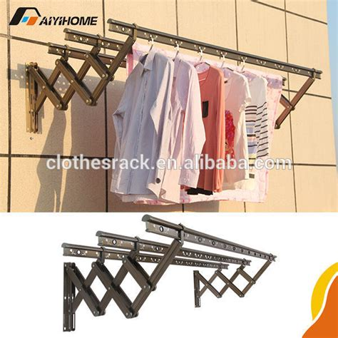 Folding Clothes Rack Wall Mounted by Wall Mounted Folding Clothes Drying Rack Push Pull Folding