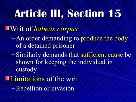Article 3 Section 3 by The Philippine Bill Of Rights Political And Rights