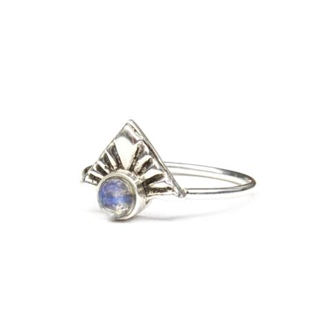 sterling silver bohemian moonstone ring by amelia may