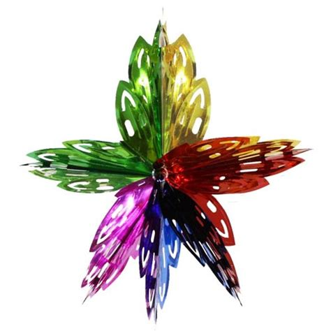 foil decorations multi colored foil flower decorations