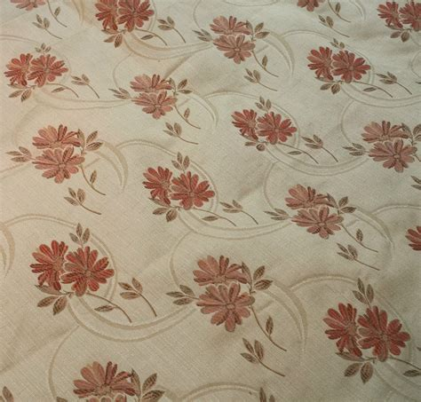 floral curtain fabric cream curtains