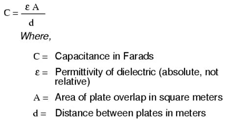 capacitor equation units capacitor sizing equation