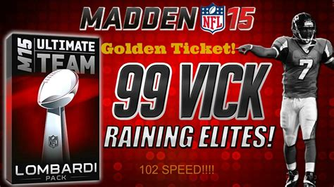 The Golden Ticket Andrew Gn Pulls Out The Showstoppers by Madden 15 Lombardi Badgepack Opening 99 Ovr Michael