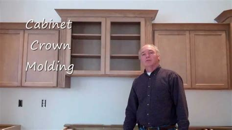 No Door Kitchen Cabinets by Kitchen Cabinet Crown Molding Youtube